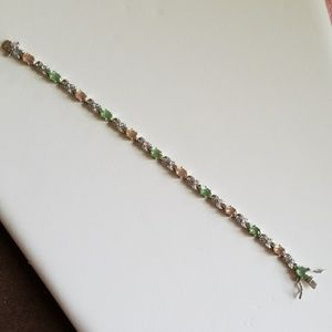 Sterling Silver 925 Gemstone Bracelet